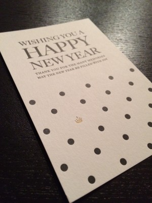 [GRAPHIC DESIGN] 2015 NEW YEAR'S POST CARD