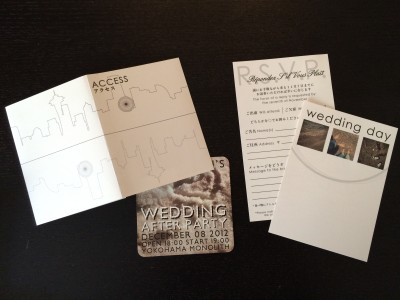 [WEDDING] BLACK AND WHITE INVITATIONS CONTENTS