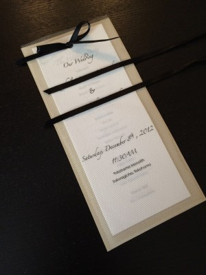 [WEDDING] TULLE WEDDING PROGRAMS