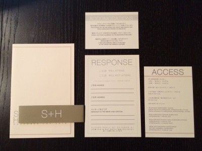 [WEDDING] S+H LOGO WEDDING INVITATIONS