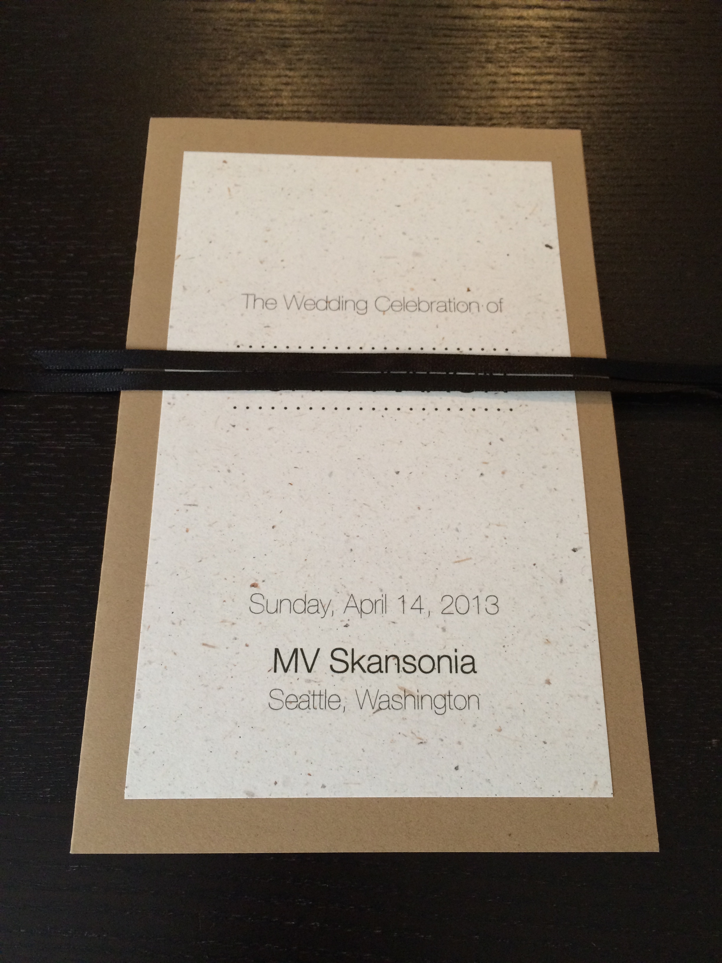 banana leaf paper wedding program m i n o r i