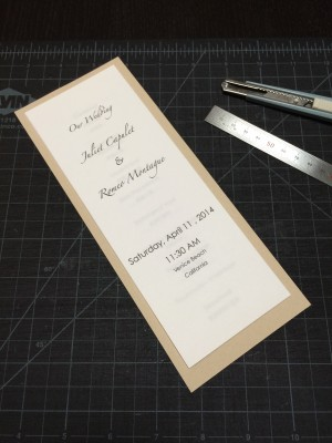 [WEDDINGS] TOOLS OF THE CRAFT (RULER & CUTTER)