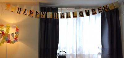 [d.i.y.] halloween flag garland // ハロウィンフラグガーランド