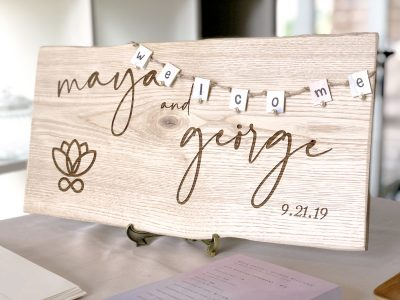 [M & G WEDDING] WELCOME BOARD